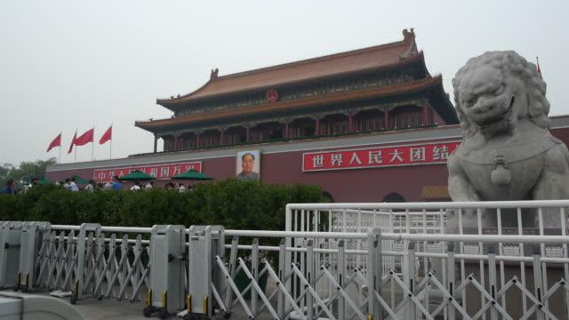 Tourists visiting Tiananmen