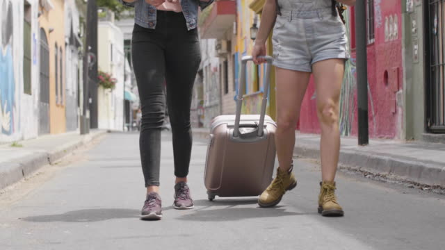 tourists walking through buenos aires - shorts stock videos & royalty-free footage