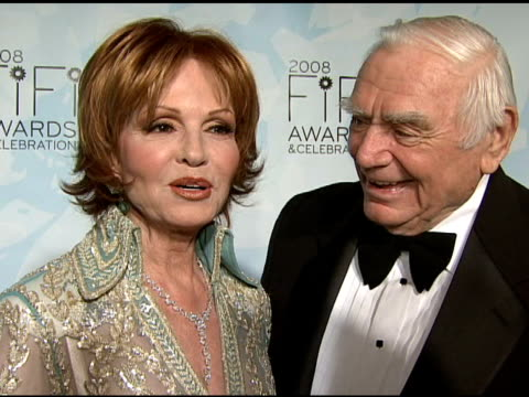 Tova Borgnine and Ernest Borgnine talking about Tova�s fragrance being nominated and what the night means to her at the Fragrance Foundation Presents...