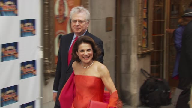 tovah feldshuh and husband at the opening of 'lend me a tenor' arrivals at new york ny - lend me a tenor stock-videos und b-roll-filmmaterial