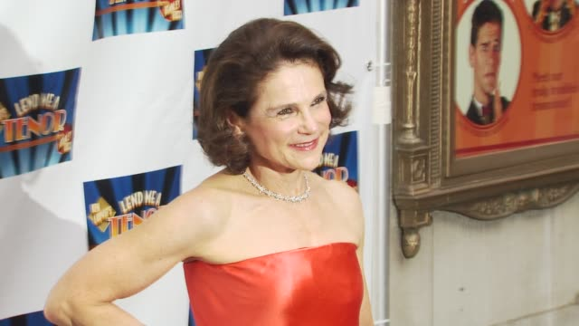 tovah feldshuh at the opening of 'lend me a tenor' arrivals at new york ny - lend me a tenor stock-videos und b-roll-filmmaterial