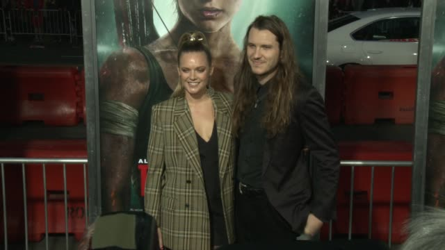 Tove Lo and guest at the 'Tomb Raider' Premiere at TCL Chinese Theatre on March 12 2018 in Hollywood California