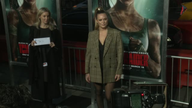 Tove Lo at the 'Tomb Raider' Premiere at TCL Chinese Theatre on March 12 2018 in Hollywood California