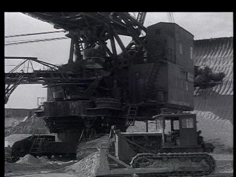 towards cpsu xxii congress karakalpak autonomous republic uzbekistan central asia ussr industrial power electric poles in deserted areas quarry... - former soviet union stock videos & royalty-free footage