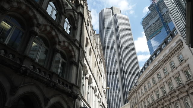 tower 42 and 125 old broad street in the city of london uk on monday july 23 2018 - skyscraper stock videos & royalty-free footage