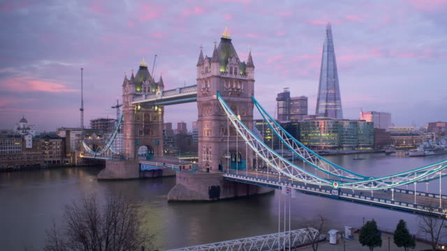 Tower Bridge and the Shard, London, England, United Kingdom, Europe