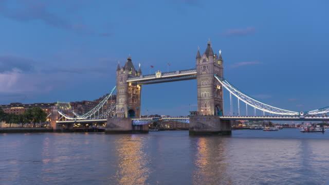 Tower Bridge day to night time lapse