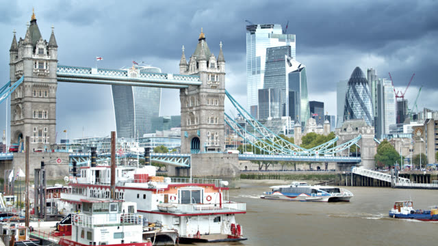 tower bridge. downtown. financial bridge. london city - international landmark stock videos & royalty-free footage