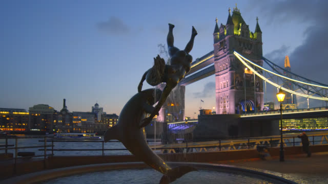tower bridge in london at sunset. - animal imitation stock videos and b-roll footage