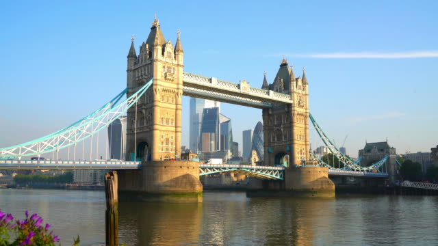 tower bridge in london city, united kingdom - tower bridge stock videos & royalty-free footage