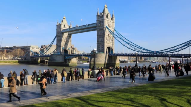 tower bridge in london, england, uk - london bridge england stock videos & royalty-free footage