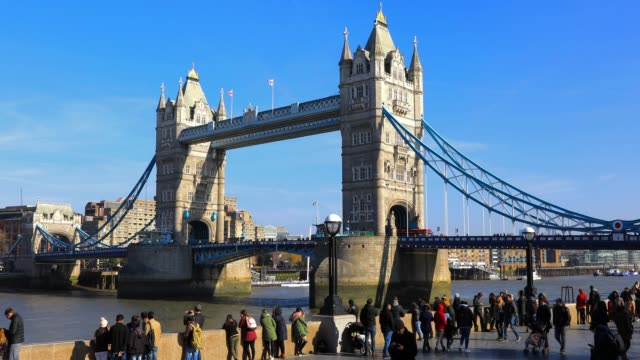 tower bridge in london in london england, uk - tower bridge stock videos & royalty-free footage