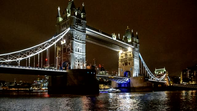 Tower Bridge in London, UK,  in the evening