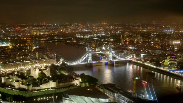 4K Tower Bridge, London, England in summer with time-lapse