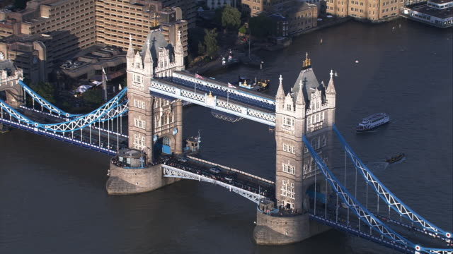 tower bridge london, england - famous place stock videos & royalty-free footage