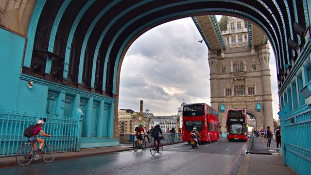tower bridge. london landmark - hanging stock videos & royalty-free footage