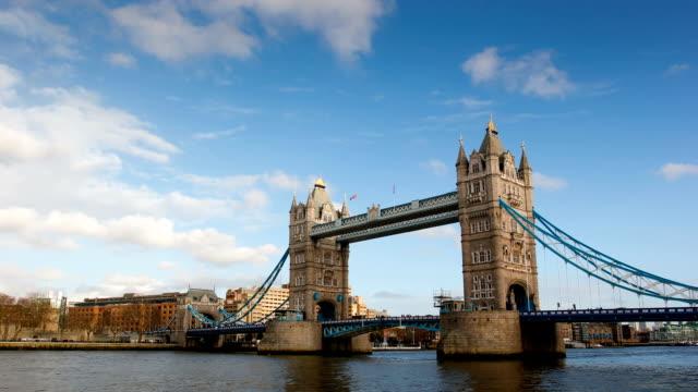 Tower Bridge, London, time-lapse