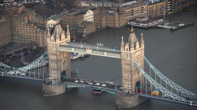 Tower Bridge, London, UK, from top view