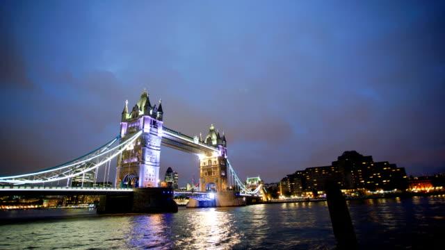 Tower Bridge, London, UK, time-lapse