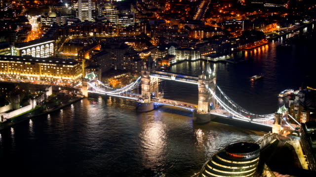 Tower Bridge, London, UK, time-lapse