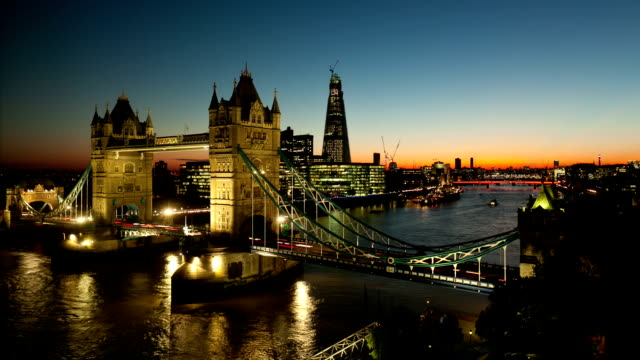 tower bridge time lapse - london bridge england stock videos & royalty-free footage