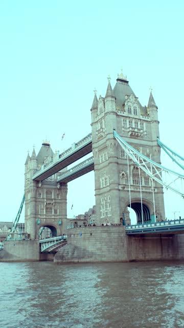 tower bridge - vertical stock videos & royalty-free footage