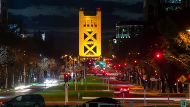 tower bridge - sacramento stock videos & royalty-free footage