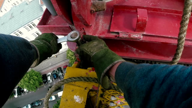 tower crane installing - glove stock videos and b-roll footage