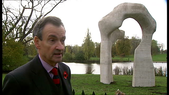 tower hamlets council debating whether to sell henry moore sculpture; richard calvocoressi interview sot - if goes to auction it may go abroad /... - henry moore stock videos & royalty-free footage