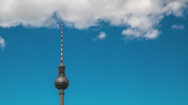 tv tower in berlin, germany - alexanderplatz stock videos & royalty-free footage