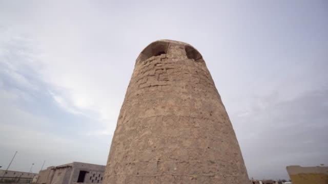 Tower in Ras al-Khaimah, low angle