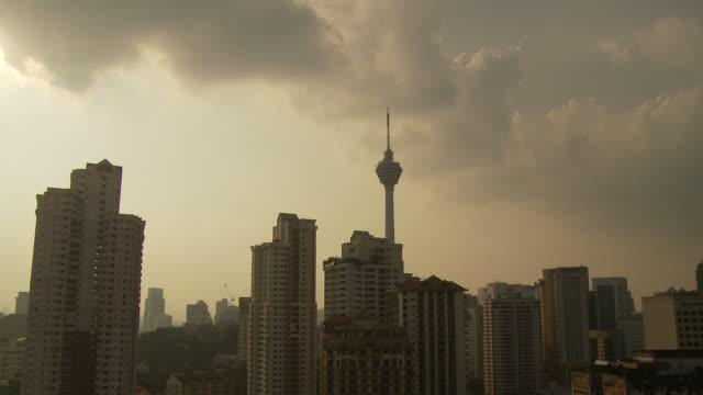 kl tower, kuala lumpur, malaysia - menara kuala lumpur tower stock videos & royalty-free footage