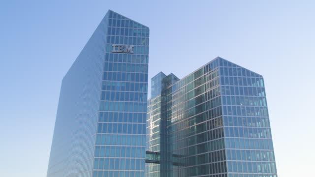 ibm tower münchen aufstieg 02 - fönsterrad bildbanksvideor och videomaterial från bakom kulisserna