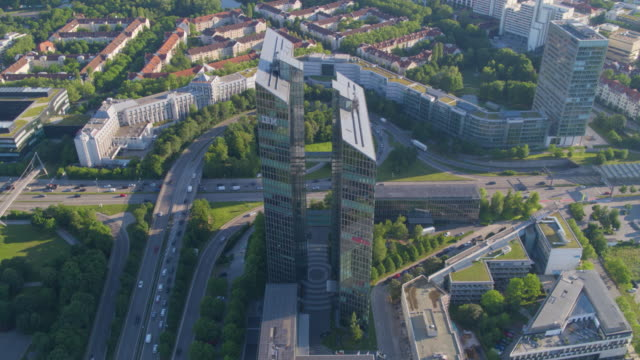 ibm tower münchen totale 01 - headquarters stock videos & royalty-free footage