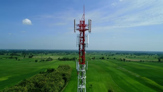 tower mobile - communications tower stock videos & royalty-free footage