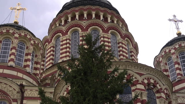 cu tower of annunciation cathedral  - religious equipment stock videos & royalty-free footage