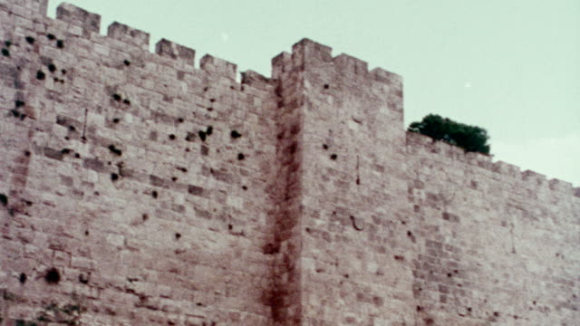 1978 tower of david - stone wall stock videos & royalty-free footage