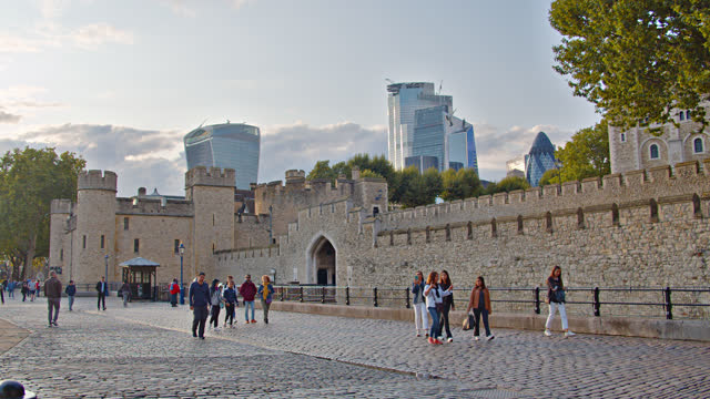 tower of london. tourist attraction - tower of london stock videos & royalty-free footage