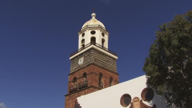 MS, LA, Tower of Nuestra Senora de Guadalupe church, Teguise, Lanzarote, Las Palmas, Canary Islands, Spain
