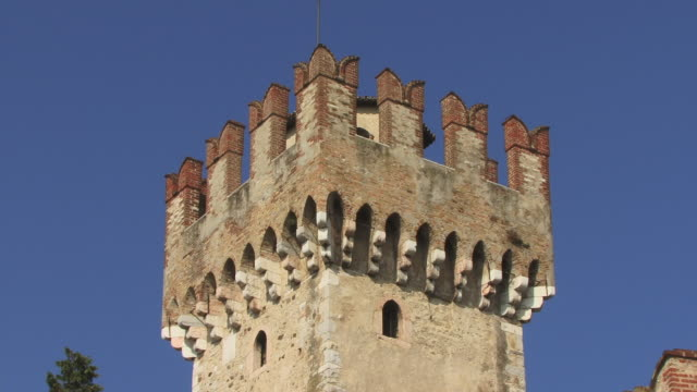 CU, ZO, ZI, LA, Tower of Scaliger Castle, Sirmione, Lombardy, Italy