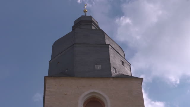 tower of st petri pauli church in eisleben - christianity stock videos & royalty-free footage