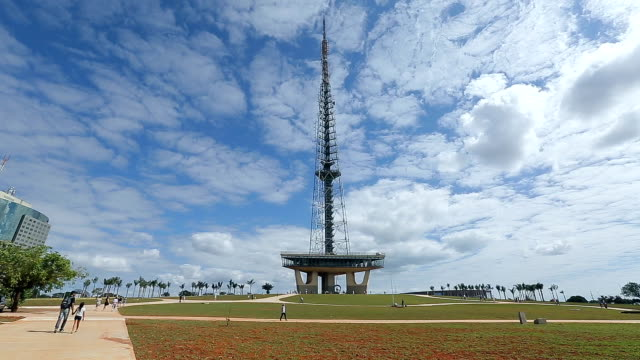 tv tower square, brasilia , brazil, capital of the brazil - brasilia stock videos and b-roll footage