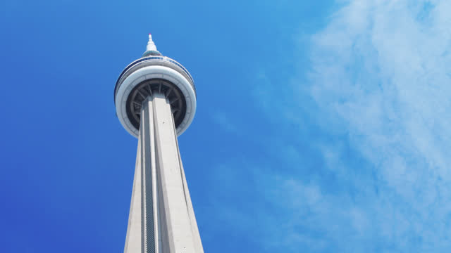 cn tower, toronto, canada - tower stock videos & royalty-free footage