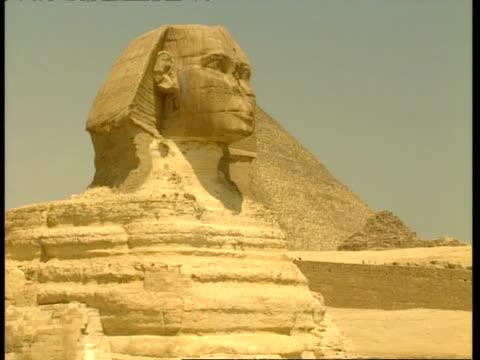 vídeos de stock e filmes b-roll de towering sphinx ? full frame, egypt - exposto ao ar