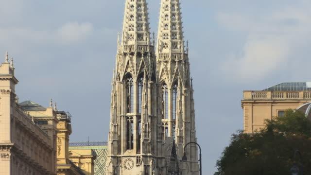 ZO, MS, Towers of Votivkirche, Vienna, Austria