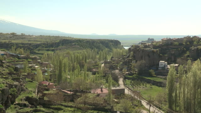 Town and Geology, Guzelyurt, Turkey