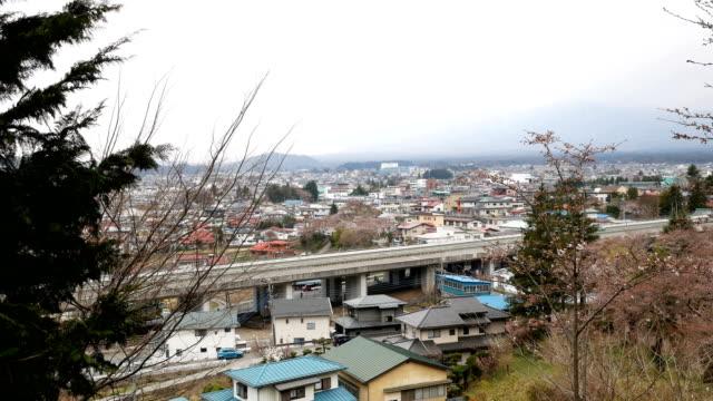 Town at Yamanashi province, Japan