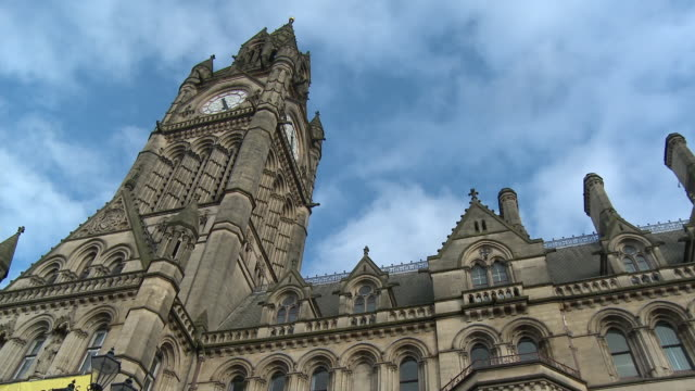 MS, LA, PAN, Town Hall clock tower, Manchester, England