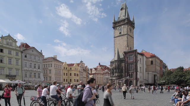 Town Hall Clock Tower on Old Town Square, Prague, Czech Republic, Europe