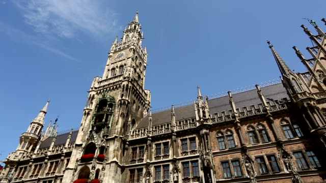 town hall munich, panning - rathaus stock videos & royalty-free footage